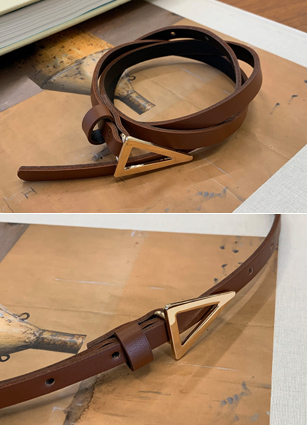 Triangle Buckle Slim Belt <br>