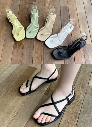 """Jackson Strap Sandals <font color=""""#ed1558""""><b>[Heel:2.8cm]</b> <br></font>"""