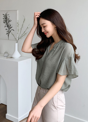 Damian frill sleeve Blouse <br>
